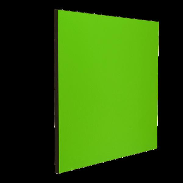Wandabsorber schwarz 125 x 125 x 6 cm mit Akustikstoff in Neongrün F642