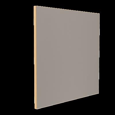 Wandabsorber natur 125 x 125 x 6 cm mit Akustikstoff in Grau F329