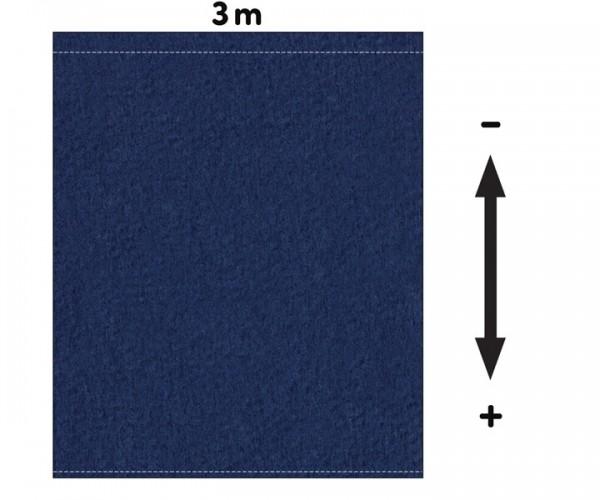 Fotohintergrund  Meterware Bühnenmolton 300g/m² royalblau 3m