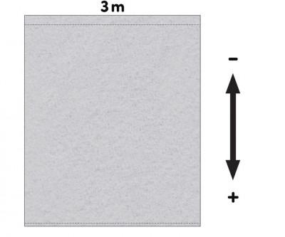 Fotohintergrund Bühnenmolton 300g/m² hellgrau 3m x 3m