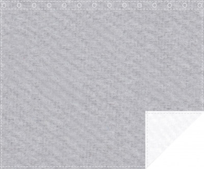 Klassiker 1.100g/m² hellgrau | weiß 3m x 2,0m geöst 3m breit