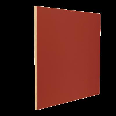 Wandabsorber natur 125 x 125 x 6 cm mit Akustikstoff in Maroon Rot F547