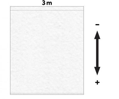 Fotohintergrund  Meterware Dekomolton 160g/m² weiß 3m