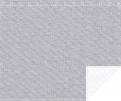 Akustikblackout 1500g/m² hellgrau | weiß 1,9m x 1,5m geöst