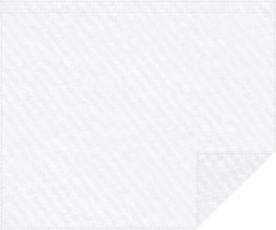 Akustikbackdrop 600g/m² weiß 3m x 2,0m Faltenband 3m breit