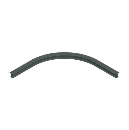 ASS Schiene gebogen 100cm schwarz