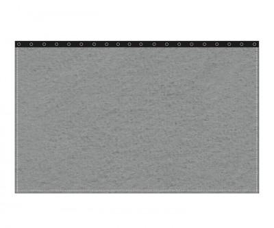 Backdrop 300g/m² schiefergrau 3m (geöst) x 3m mit silber 40mm Ösen