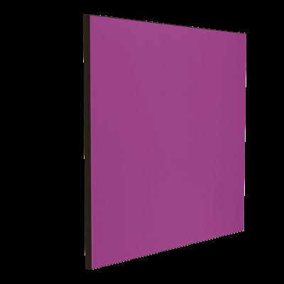 Wandabsorber schwarz 125 x 125 x 6 cm mit Akustikstoff in Violett F235
