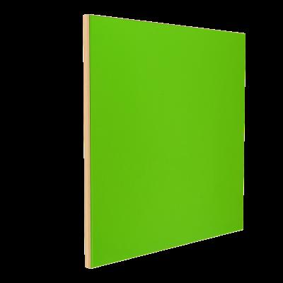 Wandabsorber natur 125 x 125 x 6 cm mit Akustikstoff in Neongrün F642