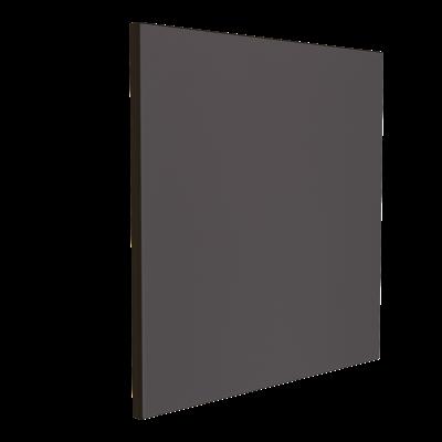 Wandabsorber schwarz 125 x 125 x 6 cm mit Akustikstoff in Dunkelgrau F331