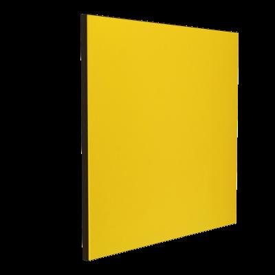 Wandabsorber schwarz 125 x 125 x 6 cm mit Akustikstoff in Gelb F731