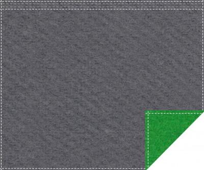 Akustikblackout 1500g/m² anthrazit | greenbox 1,9m x 1,5m Faltenband