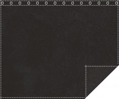 Akustikblackout 1500g/m² schwarz 1,9m x 1,5m geöst