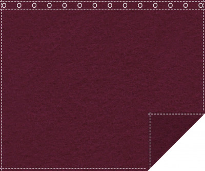 Klassiker 1.100g/m² bordeaux 3m x 2,2m geöst 3m breit