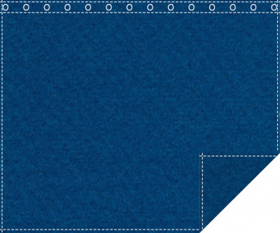 Akustikblackout 1500g/m² carpetblau 1,9m x 1,5m geöst