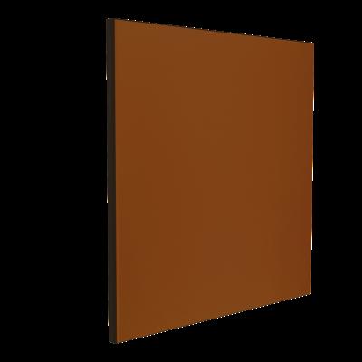 Wandabsorber schwarz 125 x 125 x 6 cm mit Akustikstoff in Braun F545