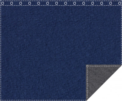 Klassiker 1.100g/m² royalblau | anthrazit 3m x 4,2m geöst