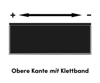 Podestverkleidung 300g/m² schwarz 0,2m hoch inkl. Klettband