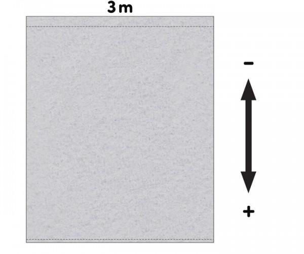 Fotohintergrund  Meterware Bühnenmolton 300g/m² hellgrau 3m