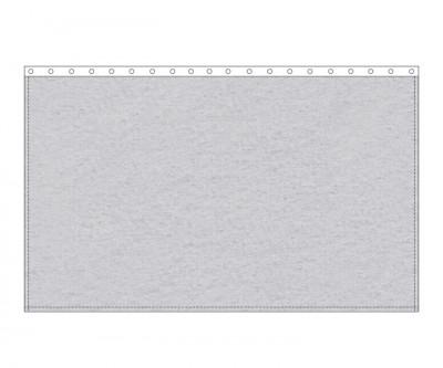 Backdrop 300g/m² hellgrau 3m (geöst) x 3m mit silber 12mm Ösen