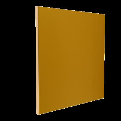 Wandabsorber natur 125 x 125 x 6 cm mit Akustikstoff in Senfgelb F727