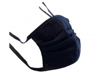 10x Waschbare Mund-Nasen-Maske mit Bändern schwarz , Made in Germany, wiederverwendbar