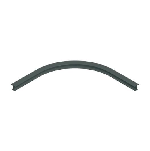ASS Schiene gebogen vorgebohrt 100cm schwarz