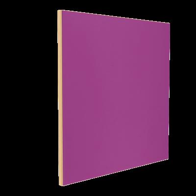 Wandabsorber natur 125 x 125 x 6 cm mit Akustikstoff in Violett F235