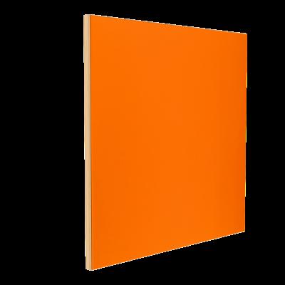 Wandabsorber natur 125 x 125 x 6 cm mit Akustikstoff in Neonorange F440