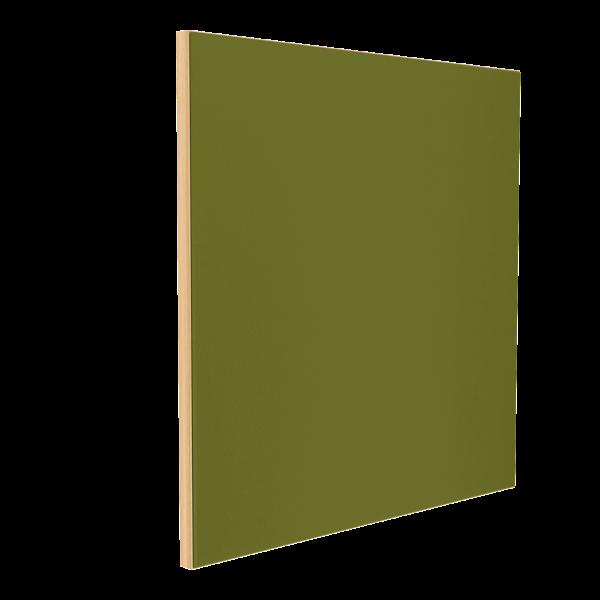 Wandabsorber natur 125 x 125 x 6 cm mit Akustikstoff in Grün F638