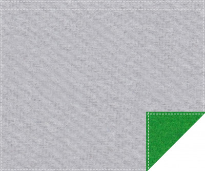 Akustikblackout 1500g/m² hellgrau | greenbox 1,9m x 1,5m Faltenband