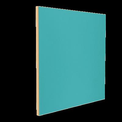 Wandabsorber natur 125 x 125 x 6 cm mit Akustikstoff in Aquamarin F628