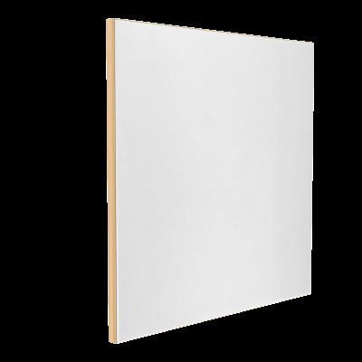 Wandabsorber natur 125 x 125 x 6 cm mit Akustikstoff in Weiß F303