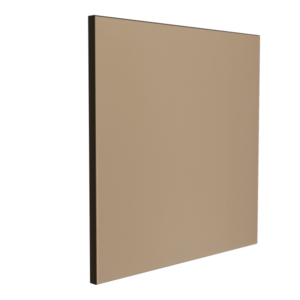 Wandabsorber schwarz 125 x 125 x 6 cm mit Akustikstoff in Beige F541