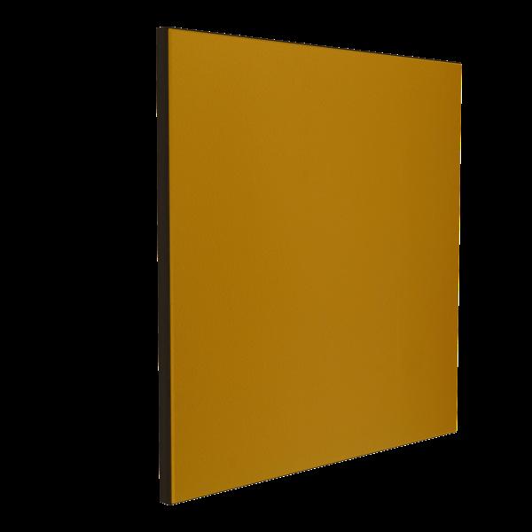 Wandabsorber schwarz 125 x 125 x 6 cm mit Akustikstoff in Senfgelb F727