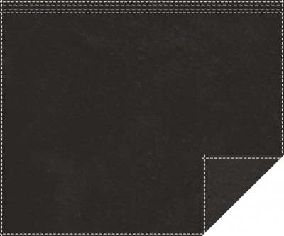 Akustikblackout 1500g/m² schwarz 1,9m x 1,5m Faltenband