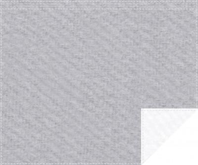 Akustikblackout 1500g/m² hellgrau | weiß 1,9m x 1,5m Faltenband