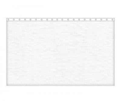 Backdrop 300g/m² weiß 3m (geöst) x 3m mit silber 40mm Ösen