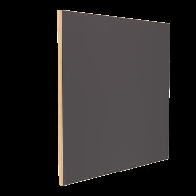 Wandabsorber natur 125 x 125 x 6 cm mit Akustikstoff in Dunkelgrau F331