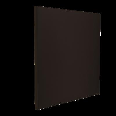 Wandabsorber schwarz 125 x 125 x 6 cm mit Akustikstoff in Schwarz F347
