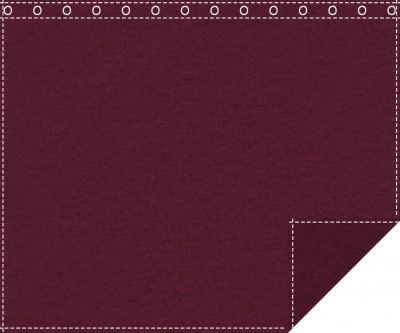 Klassiker 1.100g/m² bordeaux 3m x 2,0m geöst 3m breit