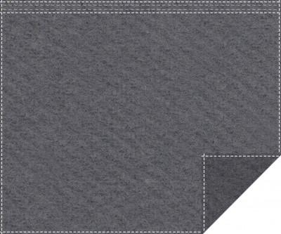 Akustikblackout 1500g/m² anthrazit 1,9m x 1,5m Faltenband