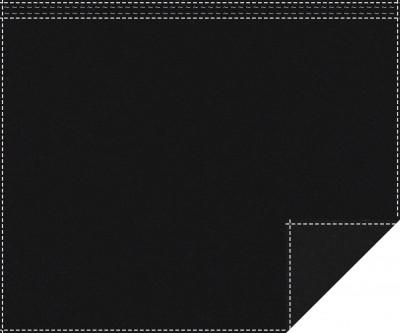 Akustikbackdrop 500g/m² schwarz 3m x 2,0m Faltenband 3m breit
