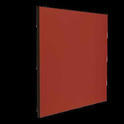 Wandabsorber schwarz 125 x 125 x 6 cm mit Akustikstoff in Maroon Rot F547