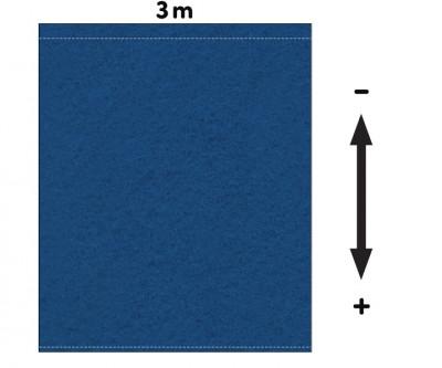 Fotohintergrund  Meterware Bühnenmolton 300g/m² carpetblau 3m