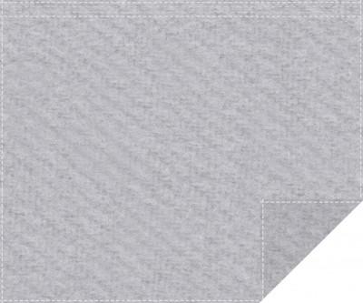 Akustikblackout 1500g/m² hellgrau 1,9m x 1,5m Faltenband