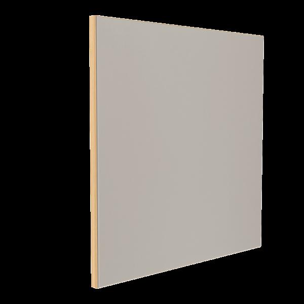 Wandabsorber natur 125 x 125 x 6 cm mit Akustikstoff in Hellgrau F309