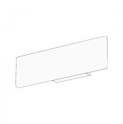 Elegance Enddeckel 1-läufig mit Überzuglauf weiß