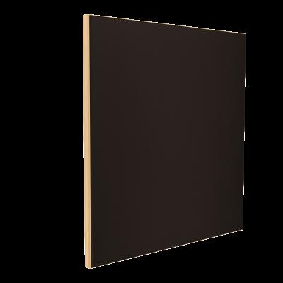 Wandabsorber natur 125 x 125 x 6 cm mit Akustikstoff in Schwarz F347