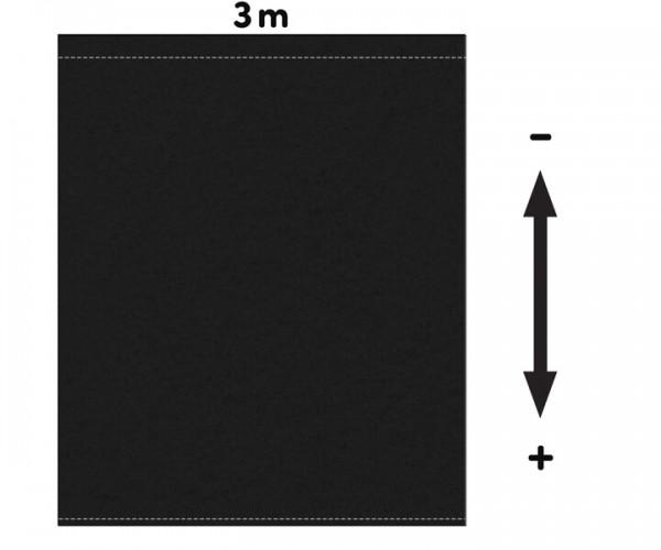 Fotohintergrund  Meterware Bühnenmolton 300g/m² schwarz 3m